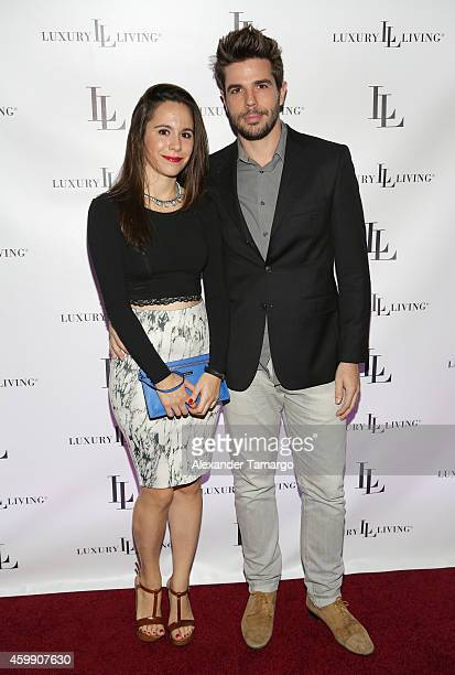 Yaiza Lopez and Alexis Cogul attend Luxury Living Showroom Art Basel Miami Beach Event on December 3 2014 in Miami Florida