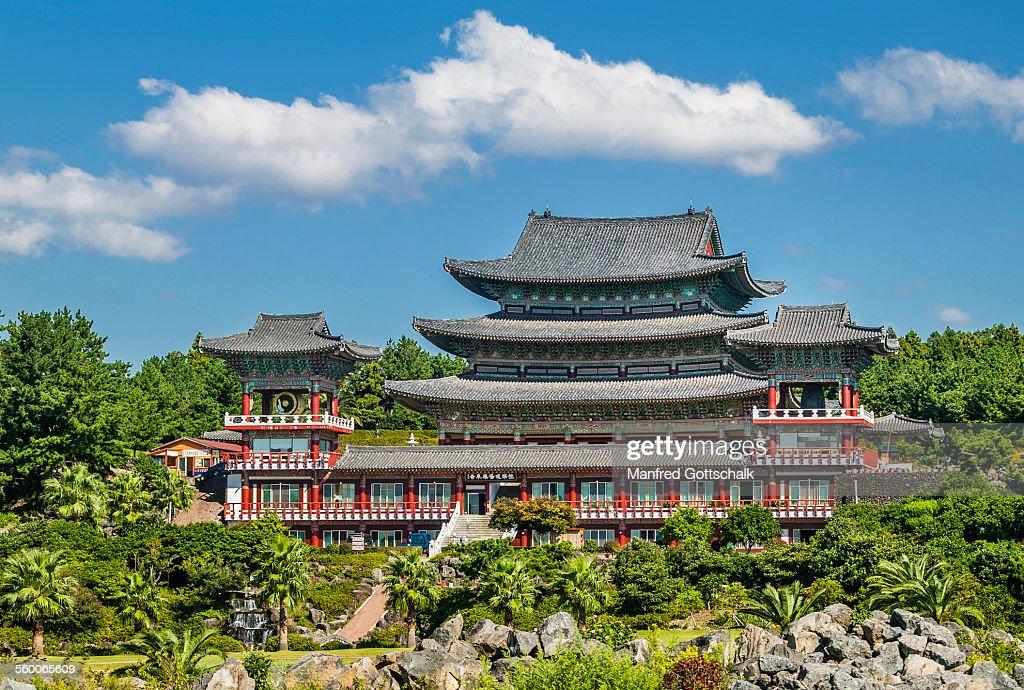 Yakcheonsa Temple on Jeju Island : Stock Photo