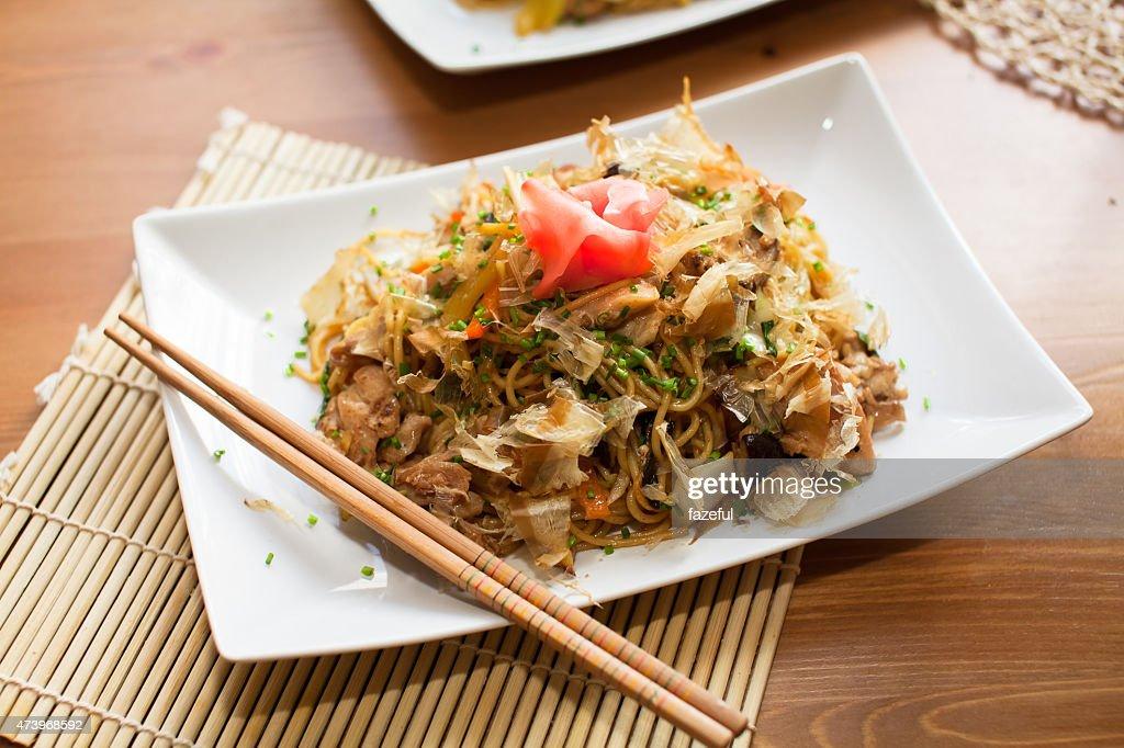 Yakisoba noodles : Stock Photo