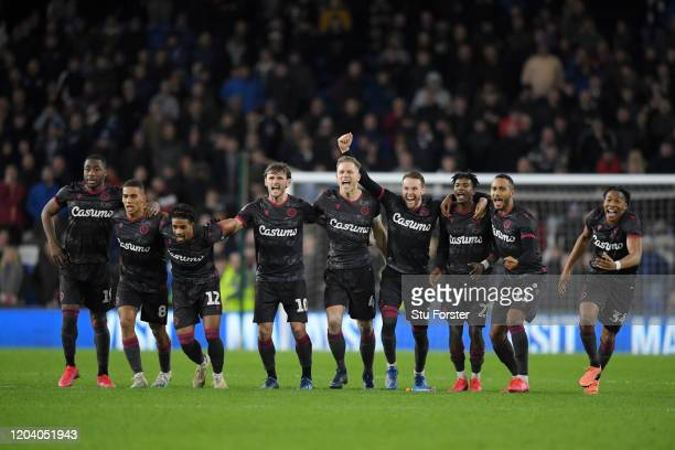 Yakou Meite, Andy Rinomhota, Garath McCleary, John Swift, Michael Morrison, Chris Gunter, Michael Olise,Jordan Obita and Gabriel Osho of Reading FC...
