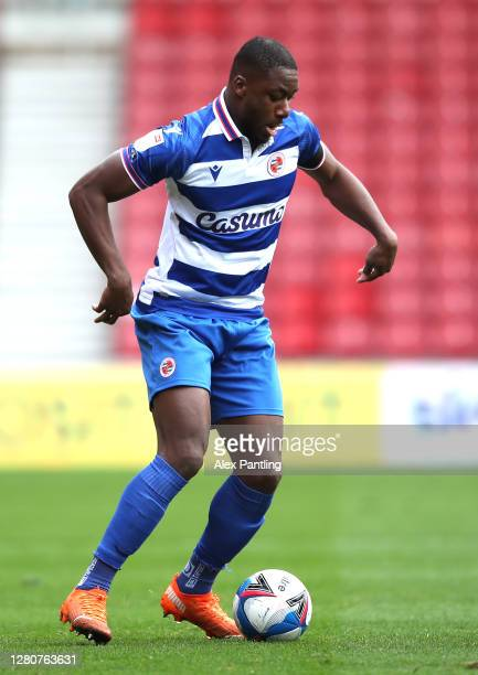 Yakou Meite of Reading during the Sky Bet Championship match between Middlesbrough and Reading at Riverside Stadium on October 17 2020 in...