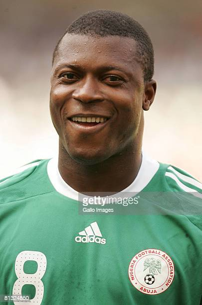 Yakubu Ayegbeni of Nigeria before the AFCON and 2010 World Cup Qualifier between Nigeria and South Africa at Abuja Stadium on June 01 2008 in Abuja...
