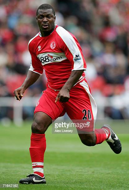 Yakubu of Middlesbrough during the Colin Cooper Benefit Match between Middlesbrough and Chievo Verona at the Riverside Stadium on August 12, 2006 in...