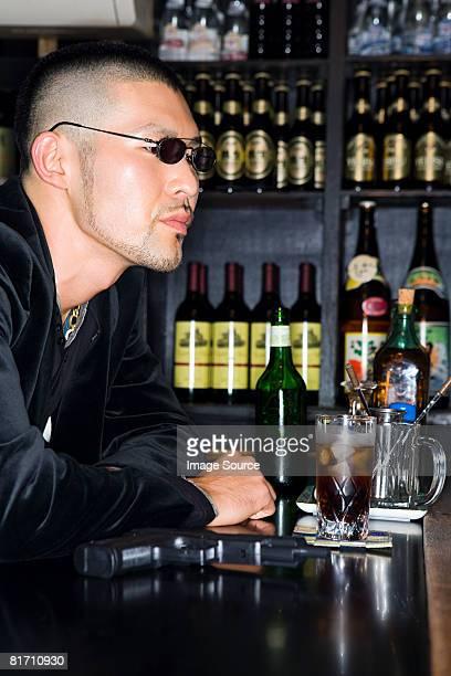 Yakuza in a bar