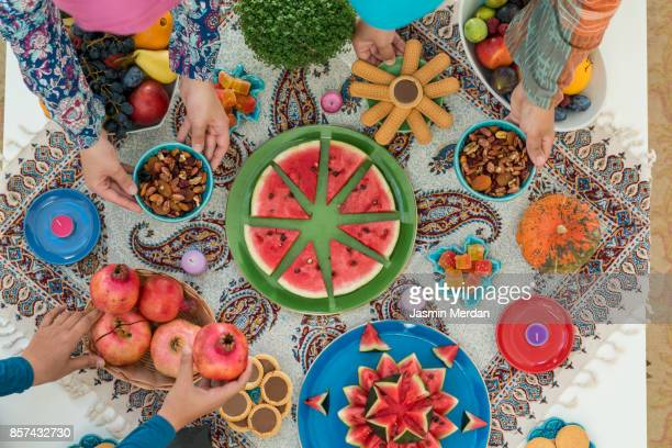 yalda night - iranian culture stock photos and pictures