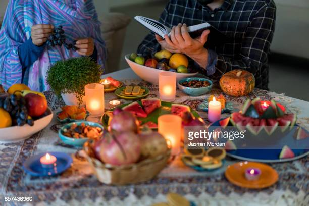 yalda night - iftar stock pictures, royalty-free photos & images