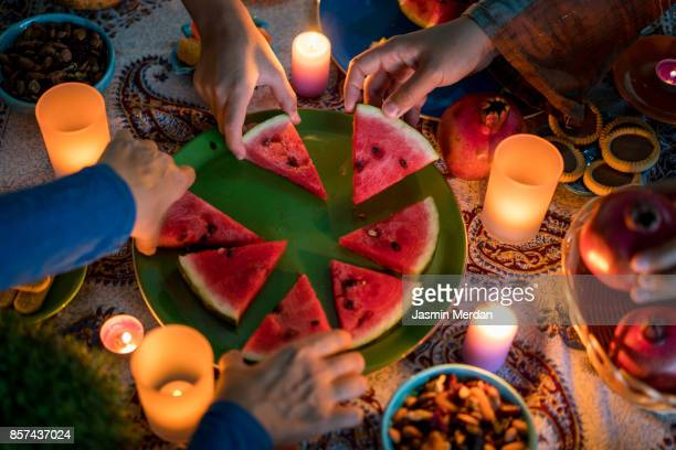 yalda night - ramadan stock pictures, royalty-free photos & images