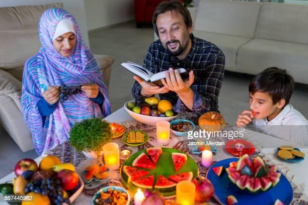 yalda night - bonne fete de ramadan photos et images de collection