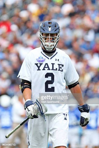 Yale Bulldogs attackman Ben Reeves during the NCAA Division I Men's Championship match between Duke Blue Devils and Yale Bulldogs on May 28 at...