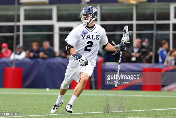 Yale Bulldogs attackman Ben Reeves in action during the NCAA Division I Men's Championship match between Duke Blue Devils and Yale Bulldogs on May 28...
