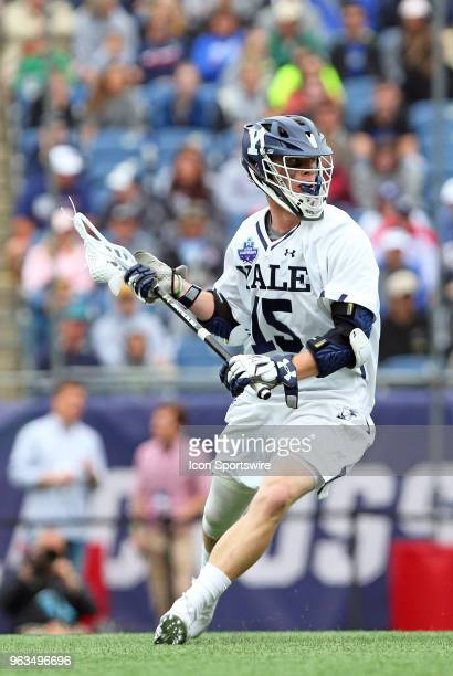 Yale Bulldogs attackman Jackson Morrill during the NCAA Division I Men's Championship match between Duke Blue Devils and Yale Bulldogs on May 28 at...