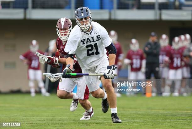 Yale Bulldogs midfielder Conor Mackie during the first round of the NCAA Division I Men's Championship match between UMass Minutemen and Yale...