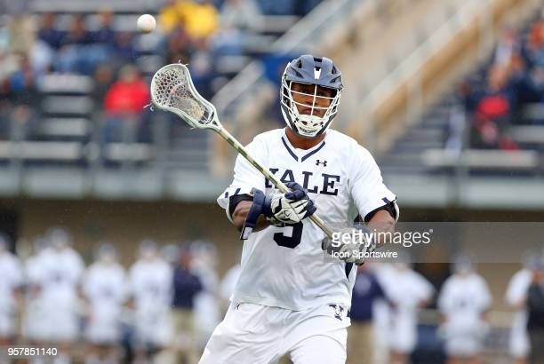 Yale Bulldogs midfielder Tyler Warner during the first round of the NCAA Division I Men's Championship match between UMass Minutemen and Yale...