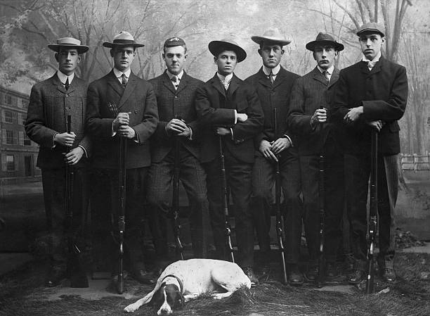 Yale Rifle Team In Full Length Pose