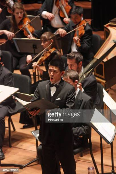 Yale Schola Cantorum with Juilliard415 performing Bach's 'St. John Passion' at Alice Tully Hall on Friday night, April 4, 2014. This image: Andrew...