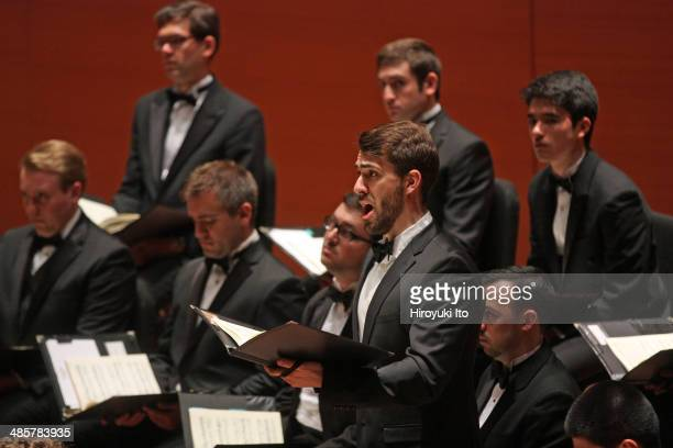 Yale Schola Cantorum with Juilliard415 performing Bach's 'St. John Passion' at Alice Tully Hall on Friday night, April 4, 2014. This image: Edmund...