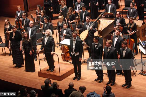 Yale Schola Cantorum with Juilliard415 performing Bach's 'St. John Passion' at Alice Tully Hall on Friday night, April 4, 2014. This image: The...