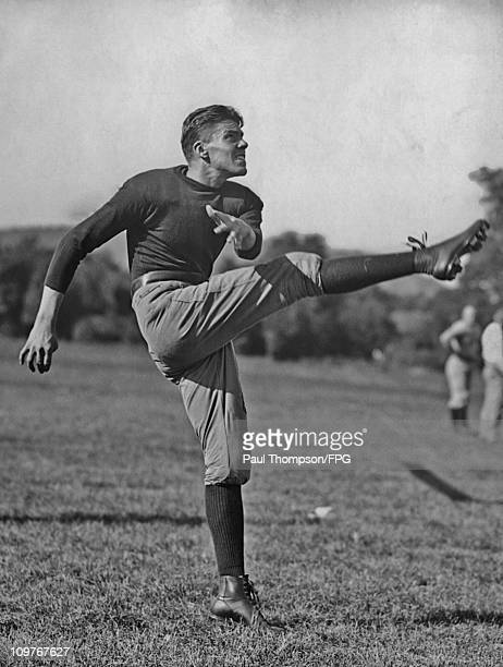 Yale University fullback Bill Mallory during training in 1921