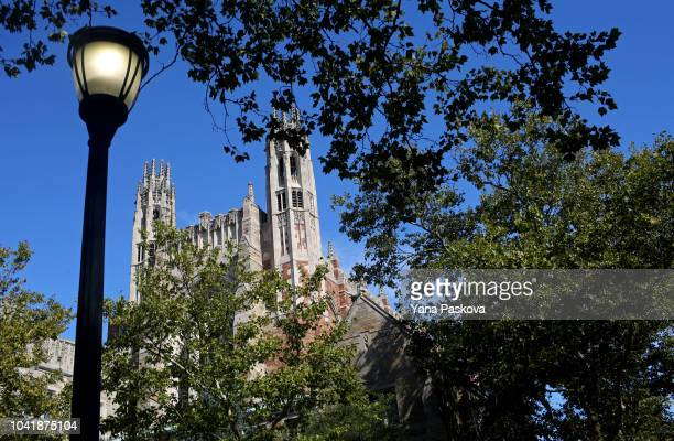Yale University Law School is shown on the day the US Senate Judiciary Committee was holding hearings for testimony from Supreme Court nominee Brett...