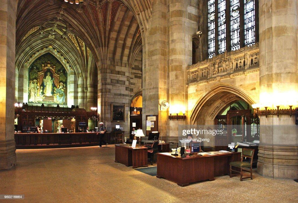 Yale University library : Stock Photo
