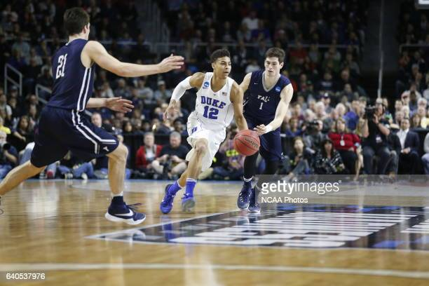 Yale University takes on Duke University during the 2016 NCAA Photos via Getty Images Men's Basketball Tournament held at the Dunkin' Donuts Center...