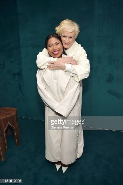 Yalitza Aparicio and Glenn Close attend the 12th Annual Women in Film Oscar Nominees Party Presented by Max Mara with additional support from Chloe...