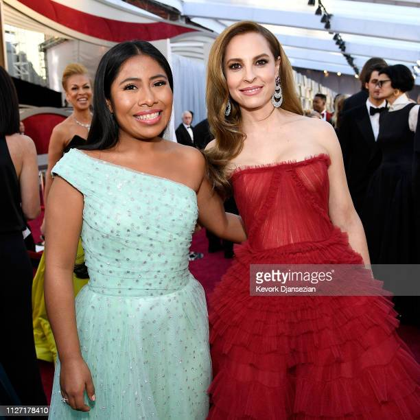 Yalitza Aparicio and Marina de Tavira attend the 91st Annual Academy Awards at Hollywood and Highland on February 24 2019 in Hollywood California