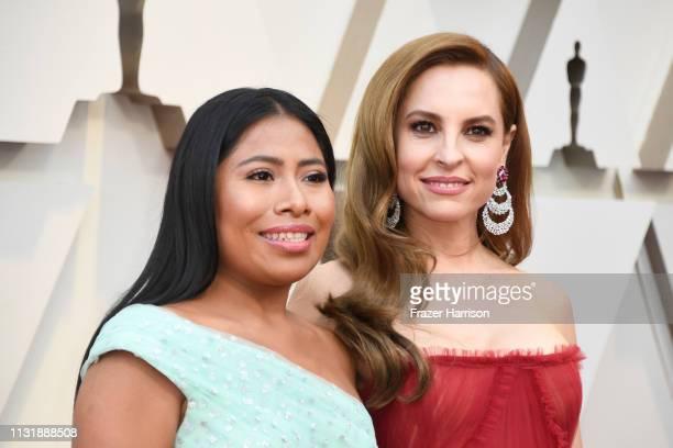 Yalitza Aparicio and Marina de Tavira attend the 91st Annual Academy Awards at Hollywood and Highland on February 24 2019 in Hollywood California