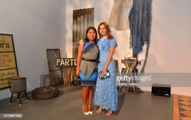 Yalitza Aparicio and Marina de Tavira attend the Netflix 'Roma' Experience at Raleigh Studiods on December 09 2018 in Los Angeles California