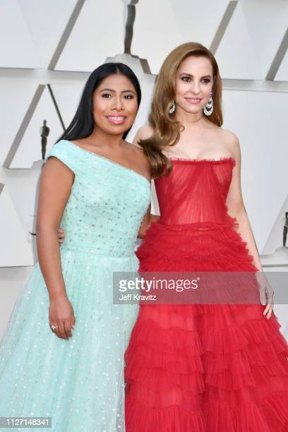 Yalitza Aparicio and Marina de Tavira attends the 91st Annual Academy Awards at Hollywood and Highland on February 24 2019 in Hollywood California