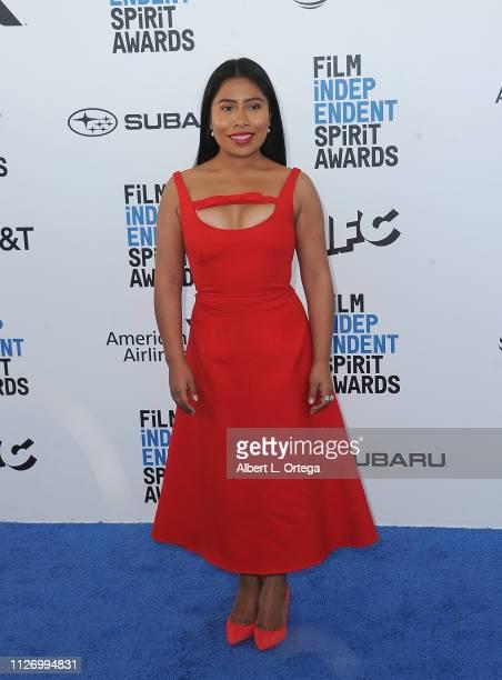 Yalitza Aparicio arrives for the 2019 Film Independent Spirit Awards held on February 23 2019 in Santa Monica California