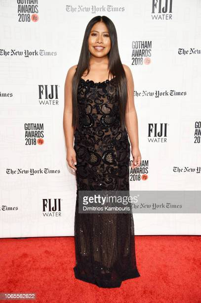 Yalitza Aparicio attends IFP's 28th Annual Gotham Independent Film Awards at Cipriani Wall Street on November 26 2018 in New York City