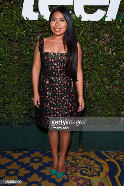 Yalitza Aparicio attends Teen Vogue's 2019 Young Hollywood Party Presented By Snap at Los Angeles Theatre on February 15 2019 in Los Angeles...