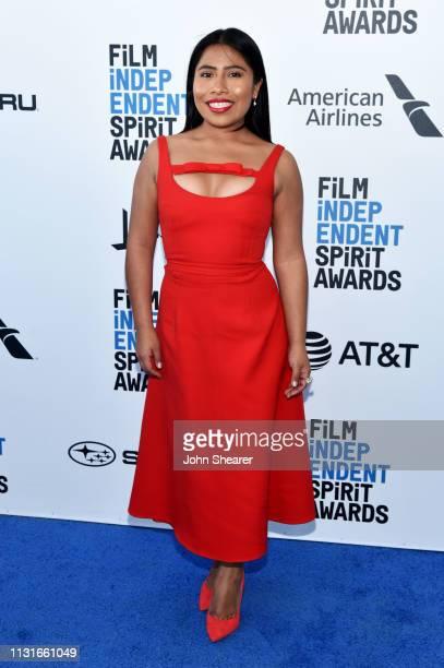 Yalitza Aparicio attends the 2019 Film Independent Spirit Awards on February 23 2019 in Santa Monica California
