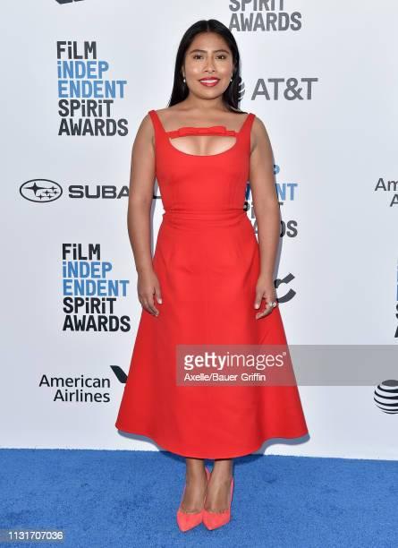 Yalitza Aparicio attends the 2019 Film Independent Spirit Awards on February 23, 2019 in Santa Monica, California.