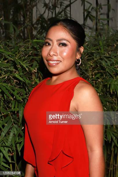 Yalitza Aparicio attends the 2020 Netflix Oscar Viewing Party at San Vicente Bugalows on February 09, 2020 in West Hollywood, California.