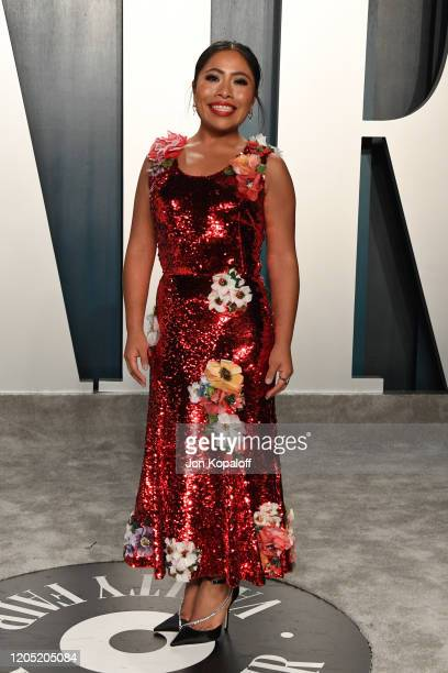 Yalitza Aparicio attends the 2020 Vanity Fair Oscar Party hosted by Radhika Jones at Wallis Annenberg Center for the Performing Arts on February 09,...