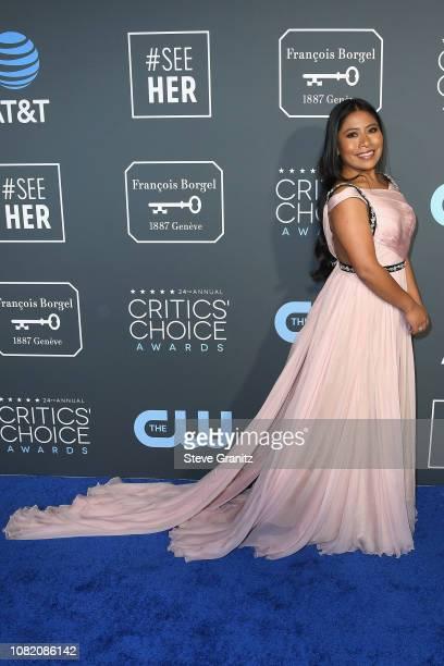 Yalitza Aparicio attends the 24th annual Critics' Choice Awards at Barker Hangar on January 13 2019 in Santa Monica California