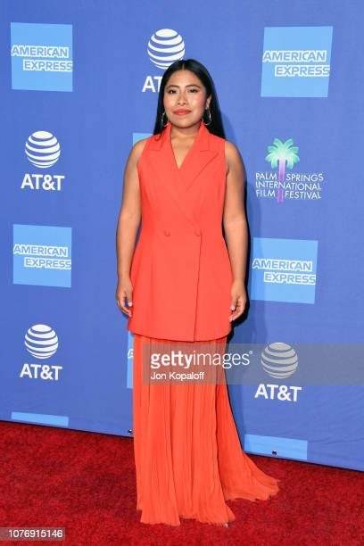 Yalitza Aparicio attends the 30th Annual Palm Springs International Film Festival Film Awards Gala at Palm Springs Convention Center on January 3...