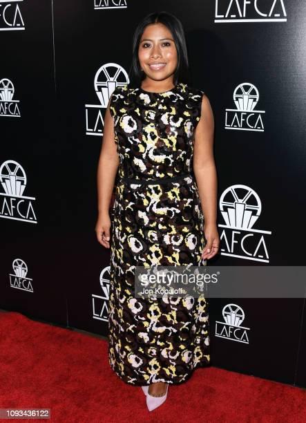 Yalitza Aparicio attends the 44th Annual Los Angeles Film Critics Association Awards at InterContinental Hotel on January 12 2019 in Century City...