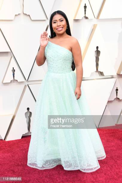 Yalitza Aparicio attends the 91st Annual Academy Awards at Hollywood and Highland on February 24 2019 in Hollywood California