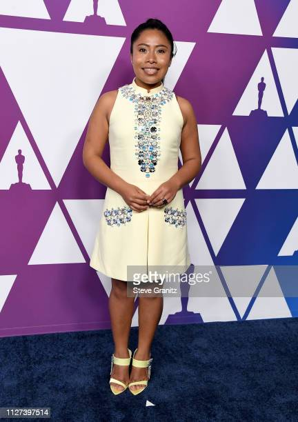 Yalitza Aparicio attends the 91st Oscars Nominees Luncheon at The Beverly Hilton Hotel on February 04 2019 in Beverly Hills California