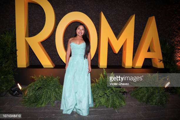 Yalitza Aparicio attends the after party during the premiere of the Netflix movie Roma at Cineteca Nacional on December 18 2018 in Mexico City Mexico