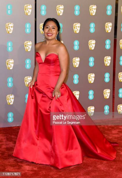Yalitza Aparicio attends the EE British Academy Film Awards at Royal Albert Hall on February 10 2019 in London England
