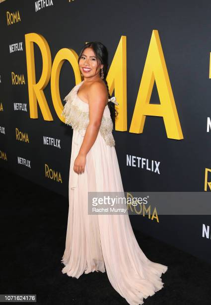 Yalitza Aparicio attends the Netflix Roma Premiere at the Egyptian Theatre on December 10 2018 in Hollywood California