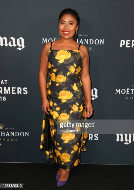 Yalitza Aparicio attends The New York Times Magazine celebration of The Great Performers Issue at NeueHouse Los Angeles on December 06 2018 in...
