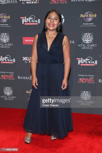 Yalitza Aparicio attends the red carpet of the Premios Platino 2019 at Occidental Xcaret Hotel on May 12 2019 in Playa del Carmen Mexico