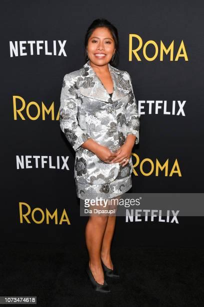 Yalitza Aparicio attends the Roma New York screening at DGA Theater on November 27 2018 in New York City