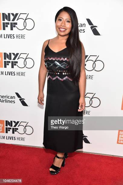 Yalitza Aparicio attends the ROMA premiere during the 56th New York Film Festival at Alice Tully Hall Lincoln Center on October 5 2018 in New York...