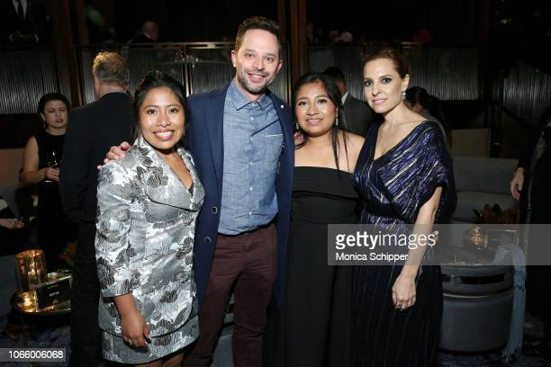 Yalitza Aparicio Nick Kroll Nancy Garcia Garcia and Marina de Tavira attend the Roma New York Special Screening on November 27 2018 in New York City